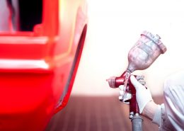 Red car coating pakistan