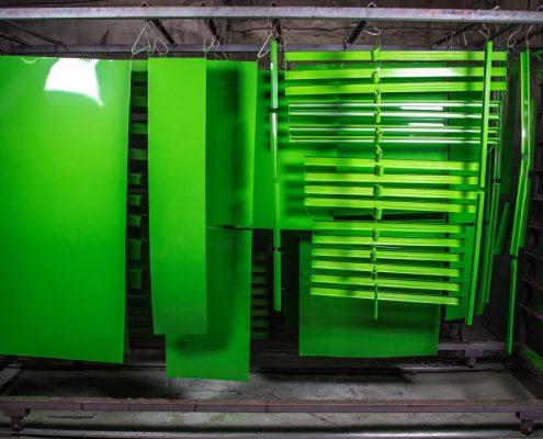 Green powder coating