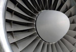 a turbine treated with durable aerospace coatings