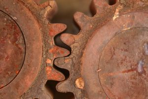 rusty wheels that needed anti corrosion coating