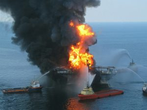 oil rig burning slower due to fire protection paint for steel